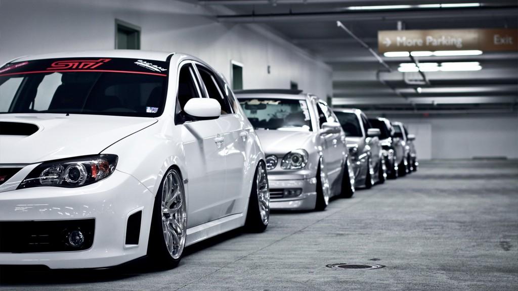 Toyota-Lexus-parking-garages-white-cars-Subaru-Impreza-WRX-STI-_41480-3